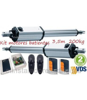 Kit PM1-C400 motores puertas batientes hasta 3,5m y 200kg. VDS