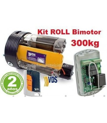 Kit Bimotor Roll 300 para puertas enrollables 300kg