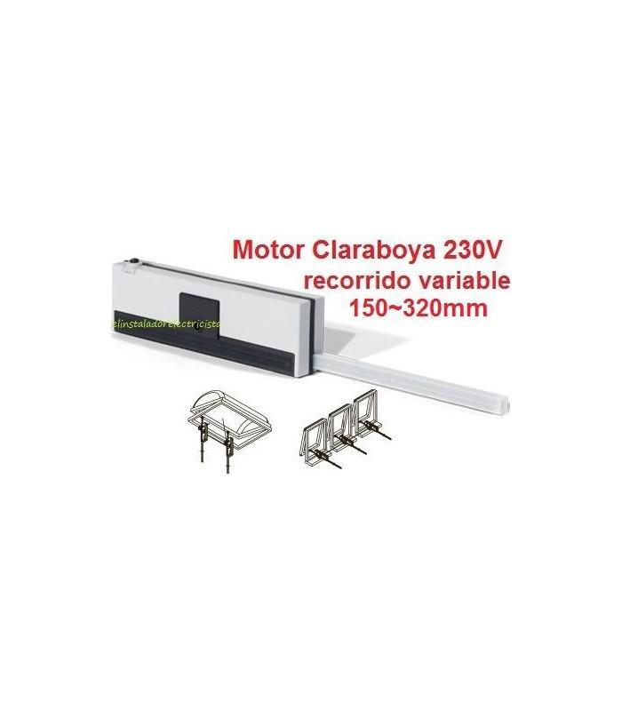 Motor Claraboya 230V recorrido variable 150/320mm