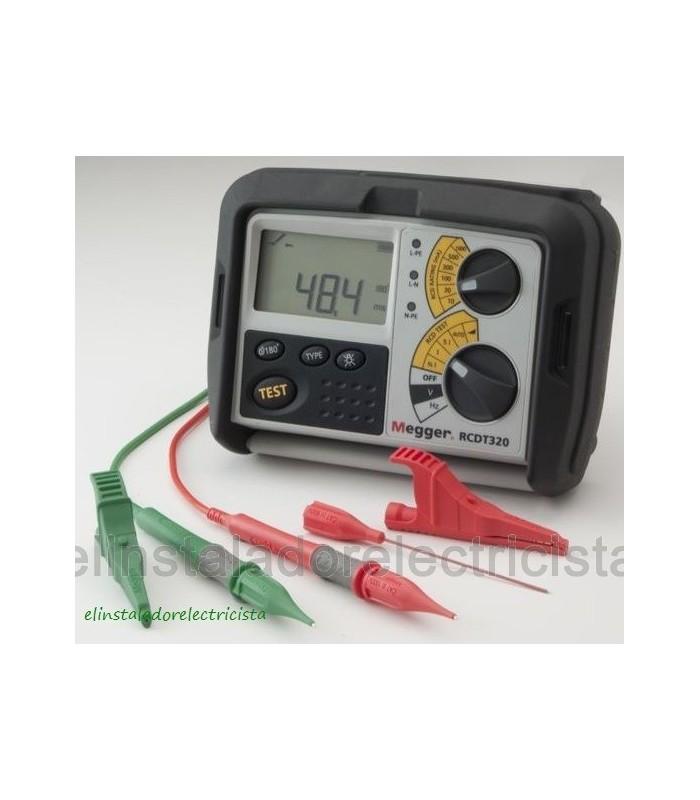 Comprobador de Diferenciales 10 a 1000 mA RCDT320