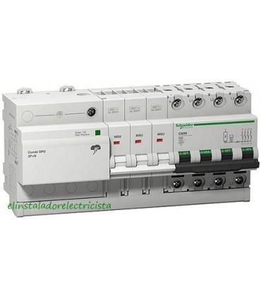 Protector 40A Combinado Sobretensiones SPU 3P+N Schneider