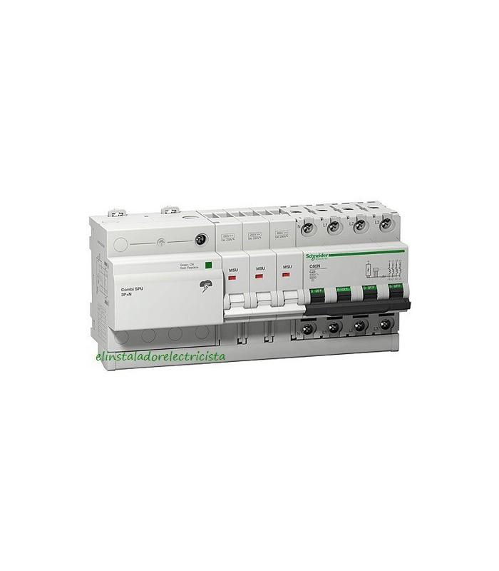 Protector Combinado Sobretensiones SPU 3P+N 25A Schneider
