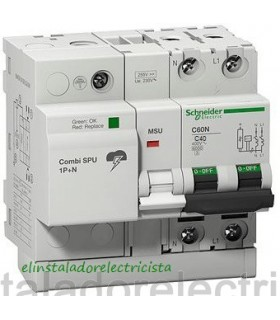 Protector 40A Combinado Sobretensiones SPU 1P+N Schneider