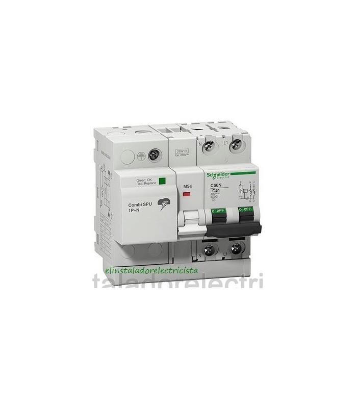 Protector Combinado Sobretensiones SPU 1P+N 40A Schneider