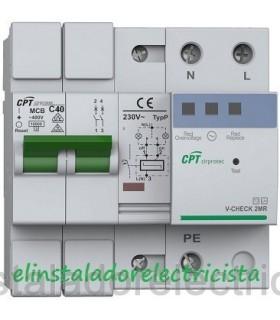 Protector Combinado contra Sobretensiones con reconexión automática 2P 40A