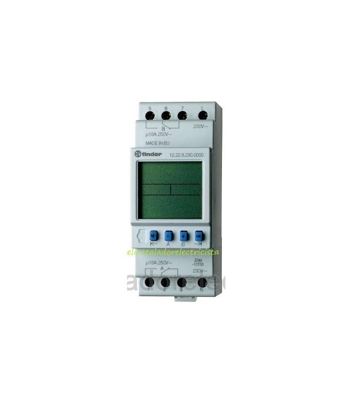 Temporizador electrónico con salida de 2 contactos FINDER 12.22