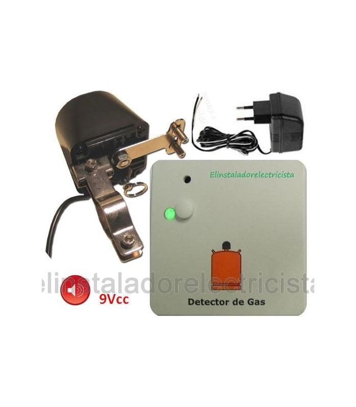 Kit detector de gas con motor corte suministro + alimentador