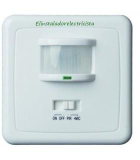Sensor de movimiento por infrarrojos y sonido 140º 220V