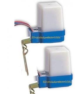 Interruptor crepuscular 230V 6A (2 unidades)