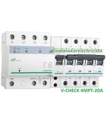 Protector 20A combinado DSP+POP sobretensiónes Trifásico