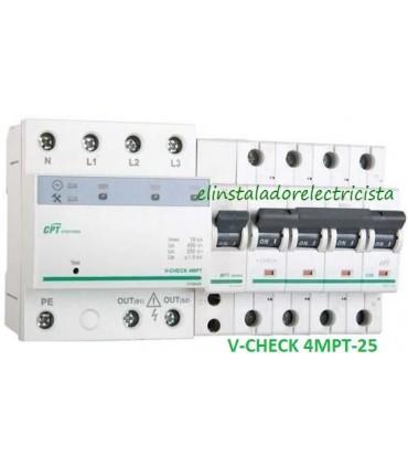 Protector 25A combinado DSP+POP sobretensiónes Trifásico