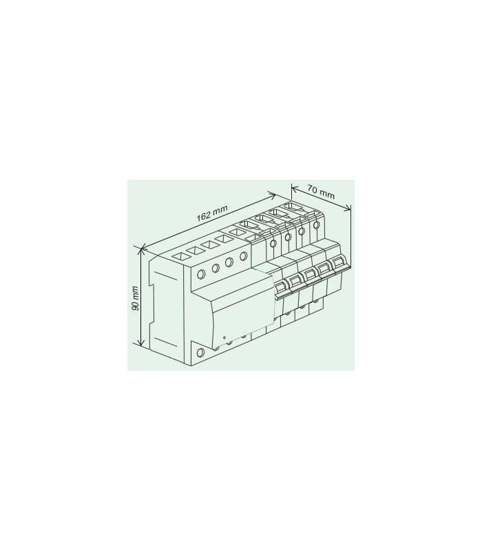 Protector combinado DSP+POP sobretensiónes Trifásico 25A 3P+N