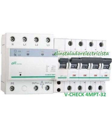Protector 32A combinado DSP+POP sobretensiónes Trifásico