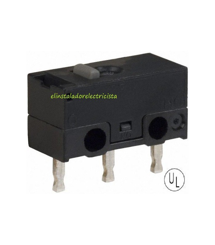 Microinterruptor 2Amp terminales soldables (Pack 25 unidades)