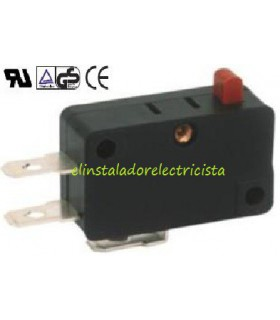 Microinterruptor 6A UL sin palanca (Pack 25 unidades)