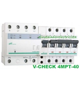 Protector combinado DSP+POP sobretensiónes Trifásico 40A 3P+N