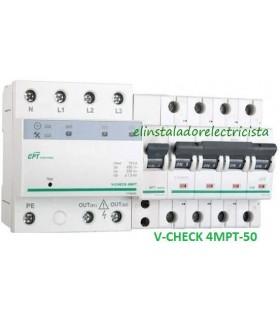 Protector combinado DSP+POP sobretensiónes Trifásico 50A 3P+N