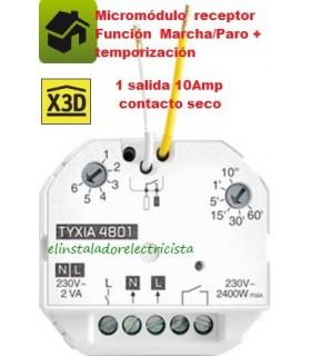 Receptor TYXIA 4801 Función Marcha/Paro + temporización 1salida contacto seco 10A