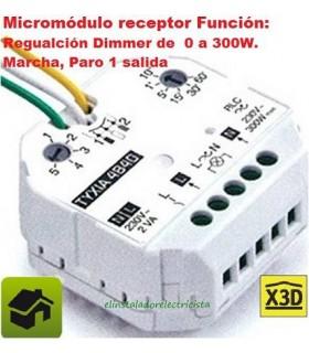 Micromódulo receptor Función Regulación/Marcha/Paro 1 salida 0/300w TYXIA 4840