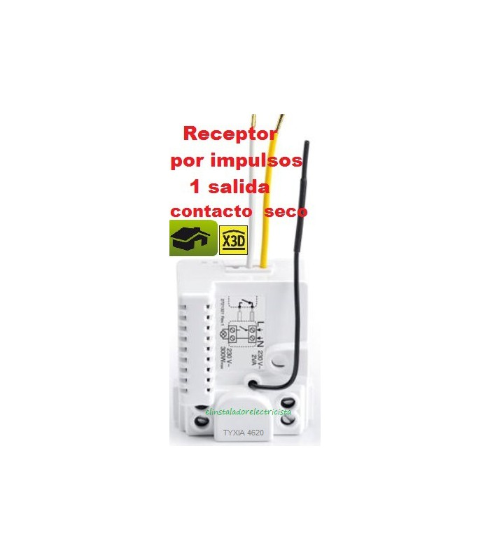 TYXIA 4620 Micromódulo receptor por impulsos 1 salida contacto seco