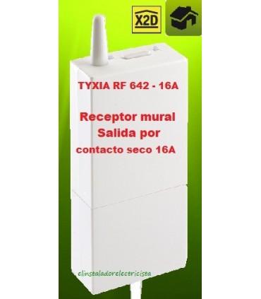 TYXIA RF 642 Receptor mural Salida por contacto seco 16A