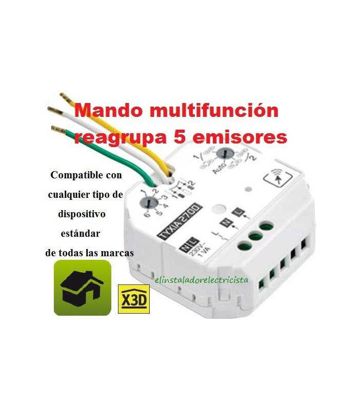 TYXIA 2700 Micromódulo emisor 230V  Reagrupa 5 emisores