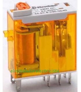 Mini-relé Finder 46.52.8 para circuito impreso enchufable/soldar 8A 2 contactos