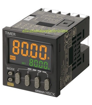 Temporizador Digital H5CX-AD-N Omron 12-24Vdc/24Vac