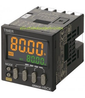 Temporizador Digital H5CX-L8D-N Omron 12-24Vdc/24Vac base 8 pin