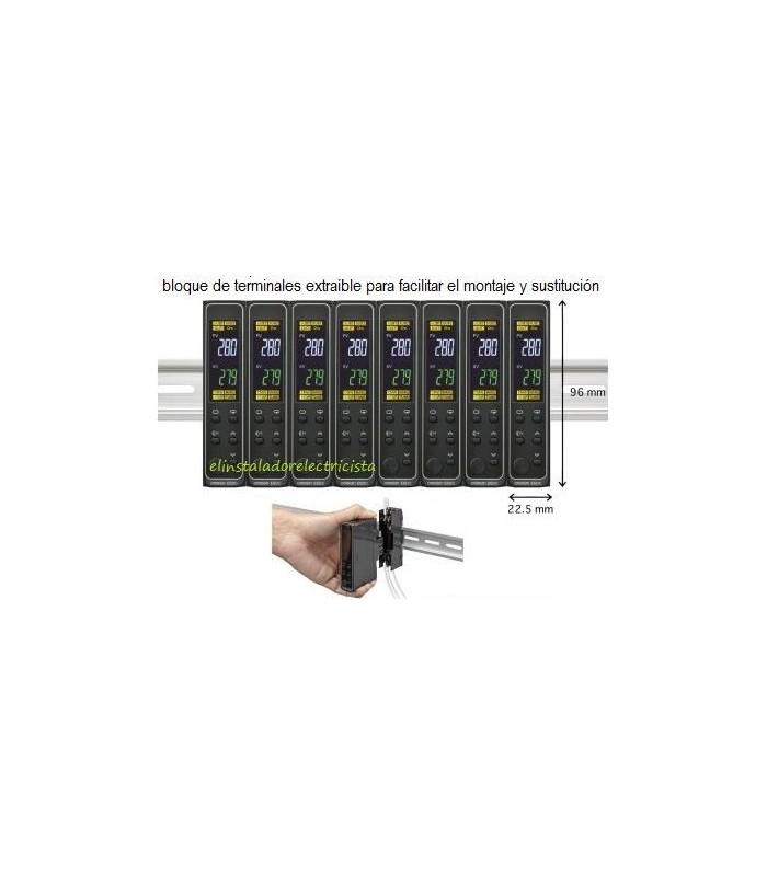 Controlador temperatura E5DC-CX2ASM-016 Omron rail din