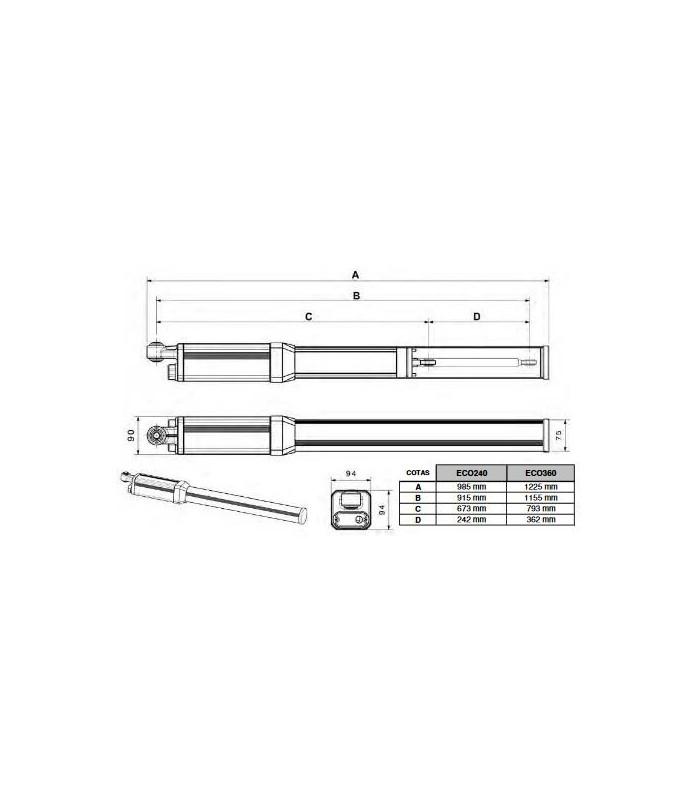 Kit brazos puertas batientes hidráulicos ECO240