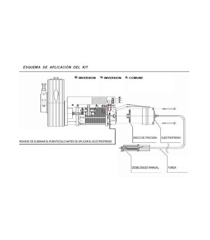 Motor Puerta enrollable SER UNI 175Nm Polea de arrastre Ø 200mm