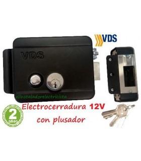 Electrocerradura reversible con pulsador