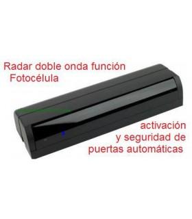 Radar doble onda función Fotocélula