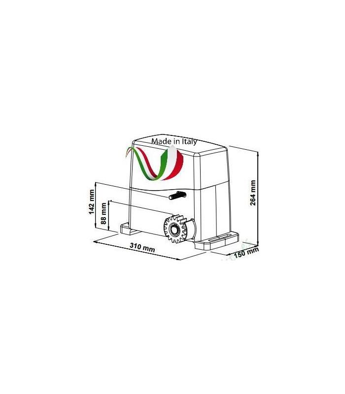 Kit Motor puerta corredera 230V VDS AG Future 800kg