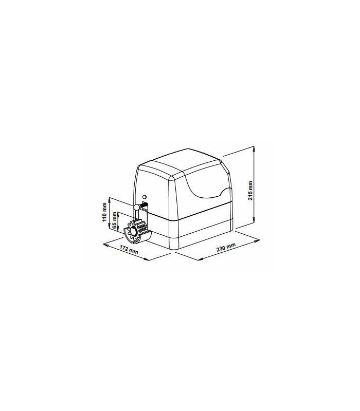 Motor y cuadro de control para 400 kilos