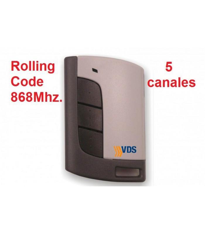 Mando Eco R 5 Canales 868Mhz Rolling code
