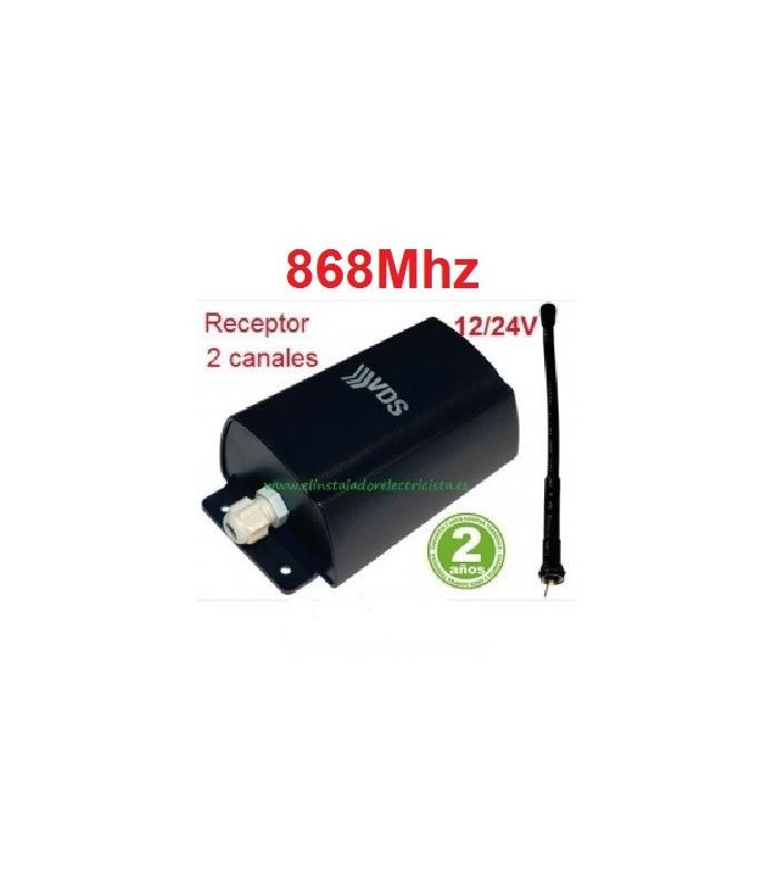 Receptor 2 canales 868Mhz 12/24V SMR24