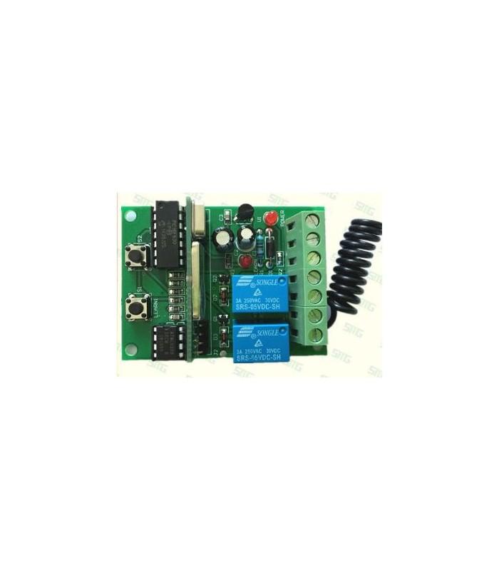 Receptor 2CH y 2 mandos 433Mhz 12/24V