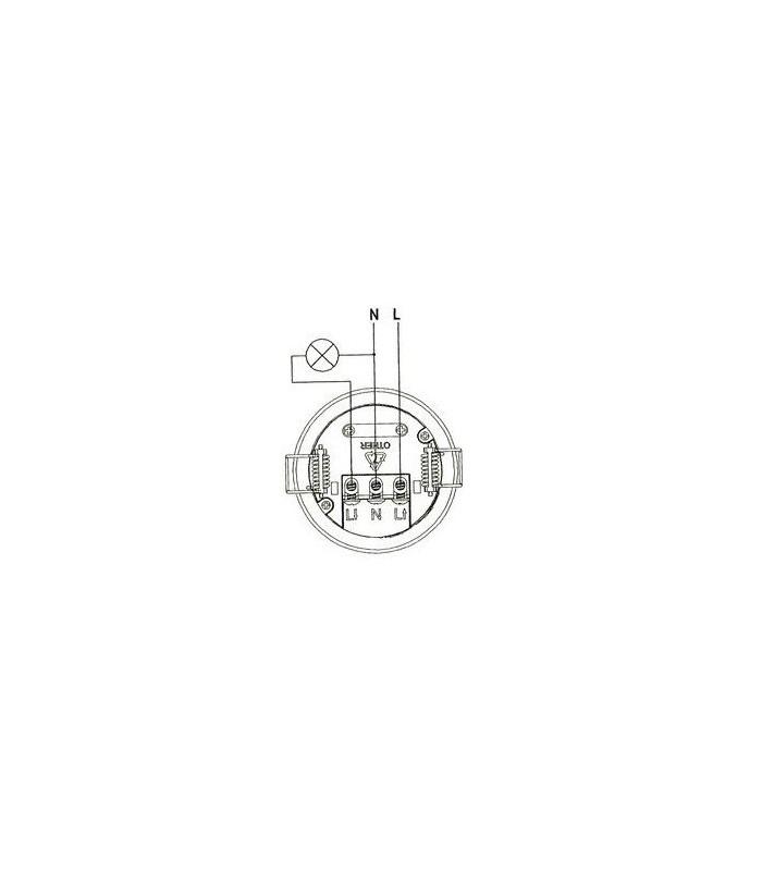 Detector por microondas Empotrable  Techo