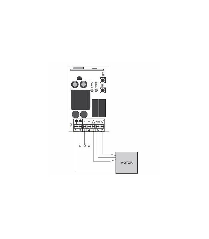 Central para toldo compatible con sensor Wiweather