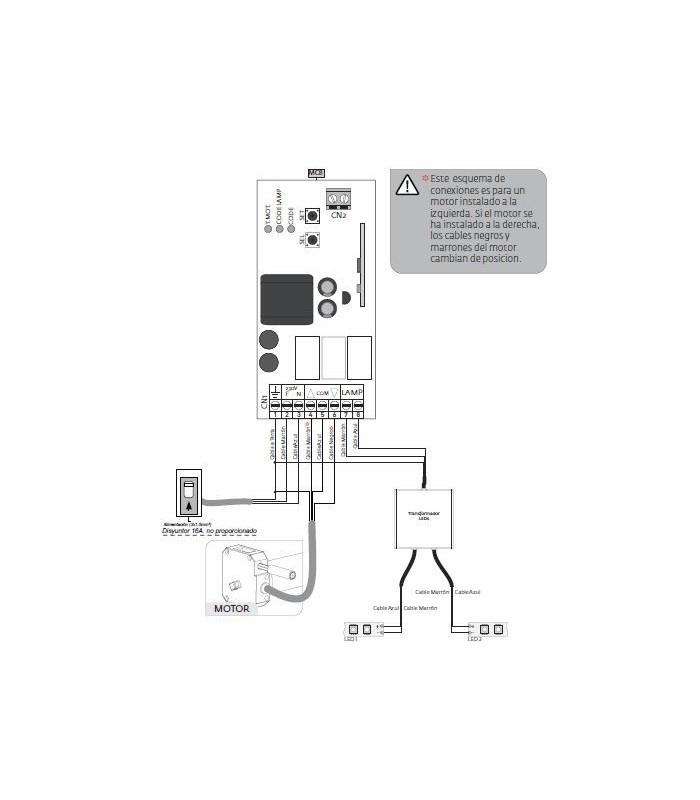 Centralita paraToldo compatible sensor Wiweather