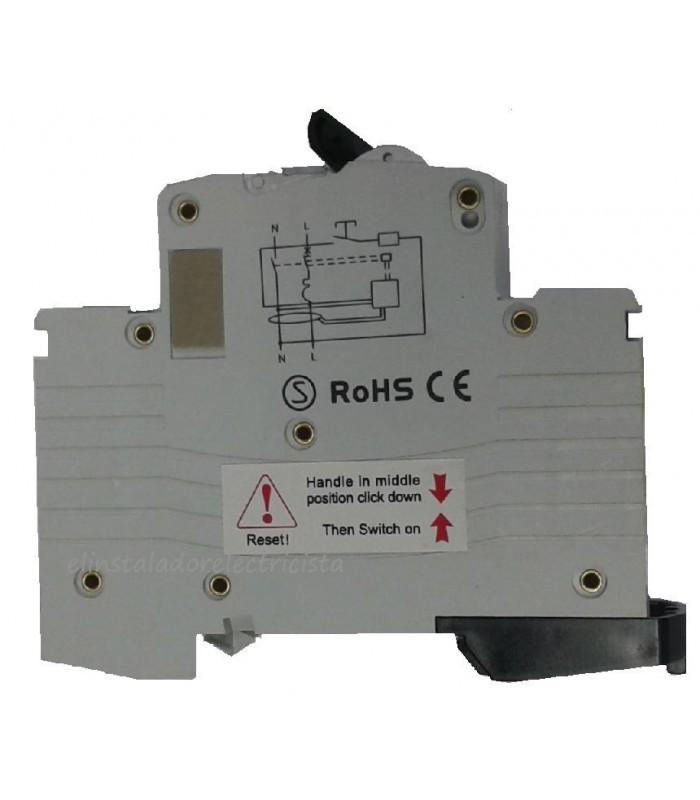 Diferencial + Automático 1P+N-6Amp. 6kA
