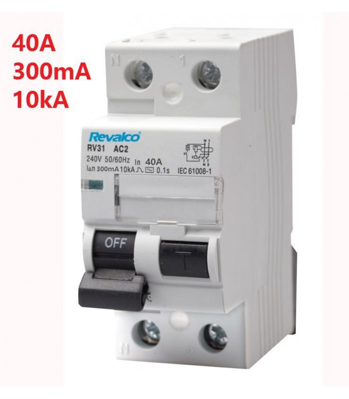 Diferencial 40A 300mA 2 Polos tipo AC