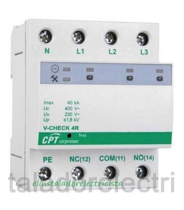 Protector 40kA combinado DPS+POP trifásico V-CHECK 4R