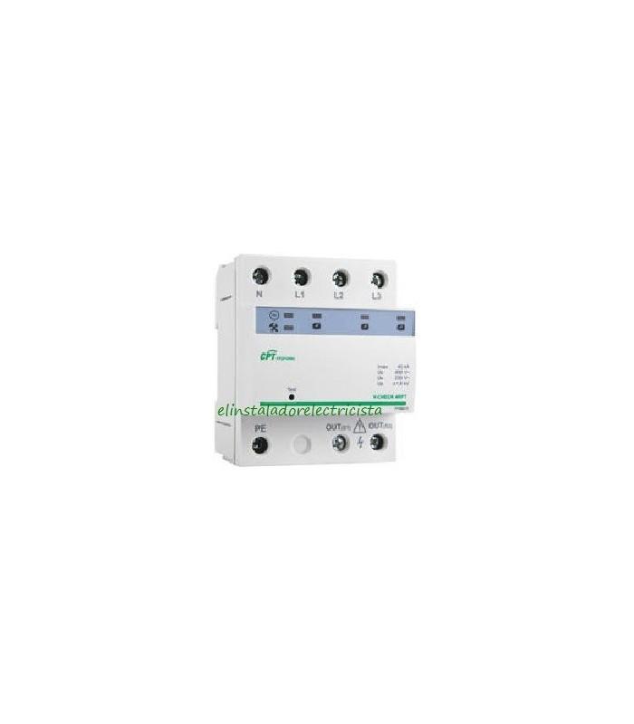 Protector combinado DPS+POP trifásico V-CHECK 4RPT