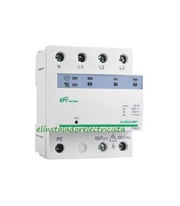 Protector 40kA combinado DPS+POP trifásico V-CHECK 4RPT