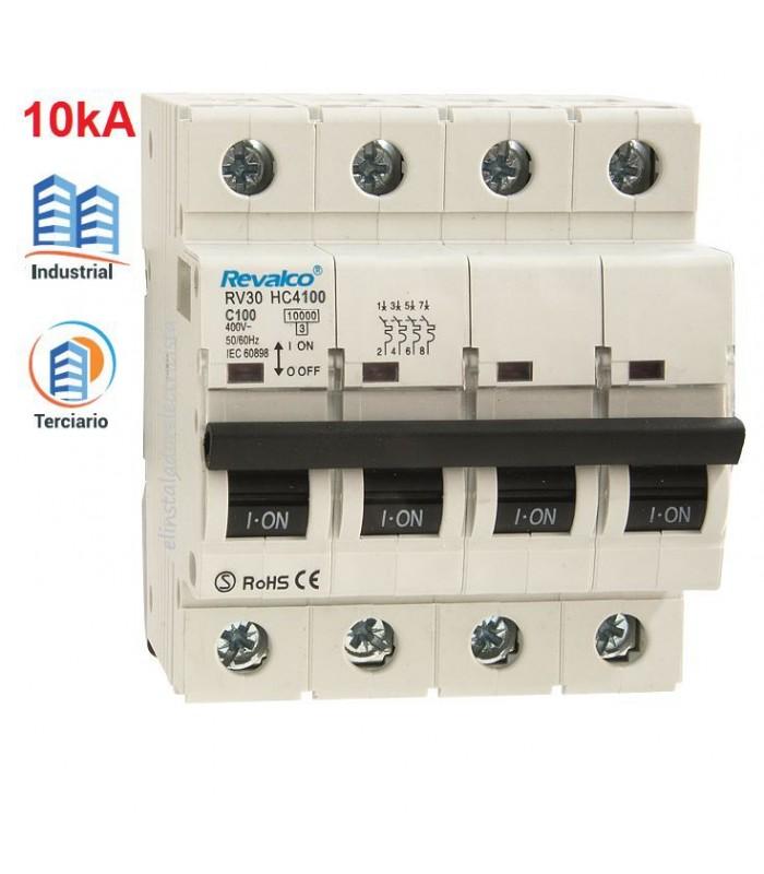Automático 100A 4 polos 10kA Curva C
