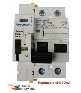 Diferencial 40A 30mA Rearmable 2P 6kA