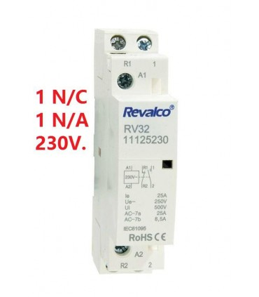 Contactor Modular 25A  1N/C+1N/A 230Vca